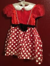 Nwt* Deluxe Minnie Mouse Costume Sz 7/8.So Sparkly And New.Great Ears