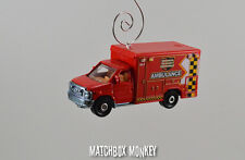 Ford F350 Ambulance Rescue EMT Custom Christmas Ornament 1/64 Scale Adorno Fire