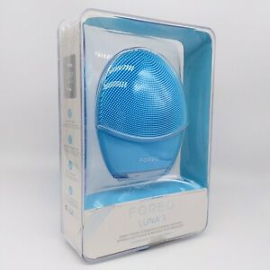 FOREO Luna 3 for Combination Skin Blue Facial Cleansing -NEW- Damaged & Open Box