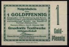 [16456]  - Notgeld NEUSALZ (heute: Nowa Sol), Gruschwitz Textilwerke AG, 1 Goldp