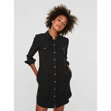 Robe Chemise noir délavé marque Vero Moda  à manches longues T36/38