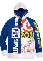 Walt Disney World 2021 Mickey Cinderella Castle Full-Zip Hoodie Adult XXL