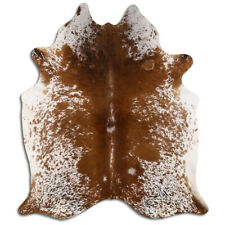 Real Cowhide Rug Salt & Pepper Brown Size 6 by 7 ft, Top Quality, Large Size