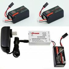 2 X 2500mAh Battery Bateria for Parrot AR Drone 2.0 + Speed Balance Charger