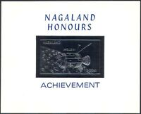 Nagaland SILVER Space/Apollo 15/Rockets/Capsule/Spacecraft IMPERF m/s (b10029)