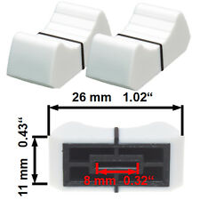 NEU 2 Prof Faderknopf WEISS 8mm Fadercaps Faderkappen Caps  Mischpulte Mixer