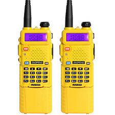 2 x BaoFeng UV-5R Dual UHF/VHF Radio Transceiver + 3800mah Battery walkie talkie