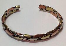 Copper, Brass + White Metal Medicine Bracelet. Cuff Style. Free Shipping in USA