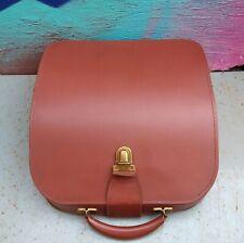 More details for vintage tan brown 50s/ 40s leather effect portabletype writer hard case lockable