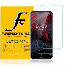 Nokia 6.1 PLUS Vidrio Templado Protector de pantalla cubierta de protección] [3 Pack 9H Hd Claro