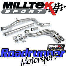 "Milltek Golf MK7 GTD 2.0 TDi 185PS 3"" Cat Back Exhaust System Non Res SSXVW242"