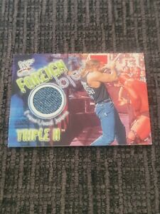 fleer foreign objects Triple H Event Worn Jean Card