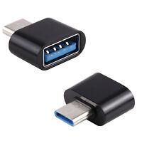 OTG Adattatore Typc Per Chiavetta USB Disco Rigido Tablet Smartphone Spina Nero