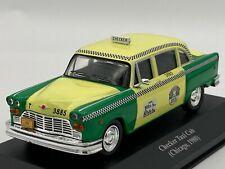 Taxi Checker cab Chicago 1980 1/43 avec boite vitrine.