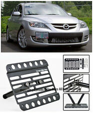 EOS For 04-09 Mazda 3 / Mazdaspeed 3 Front Bumper Tow Hook License Plate Bracket