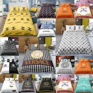 Fashion Letter Perfume 3D Printed Duvet Cover 2/3PC Bedding Set Pillowcase GC/GD
