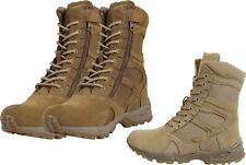 """Forced Entry Combat Deployment Boots Side Zipper Tactical 8"""" High"""
