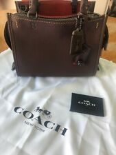 NWT COACH 1941 Rogue 25 glovetanned pebble leather satchel handbag Oxblood