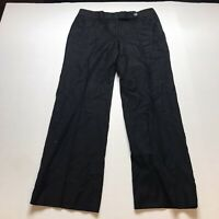 J. Crew Super 120s Favorite Fit Black 100% Wool Dress Pants Size 6 A908