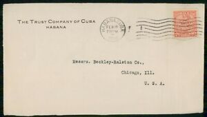 Mayfairstamps HABANA AD 1916 COVER TRUST COMPANY wwk30835