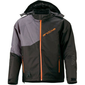 Arctiva Pivot 4 Hooded Snowmobile Jacket (Black / Orange) Choose Size