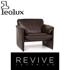 Leolux Bora Leather Armchair Braun Dark Brown #14412