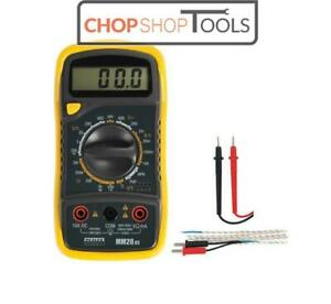 Sealey Digital AC DC Multimeter/Voltmeter + Test Leads/Probe & Thermocouple MM20