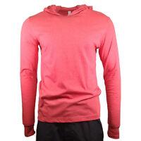 Men's Hooded T-shirt BELLA + CANVAS Soft Comfy Hoodie Heather Red #3512 MEDIUM