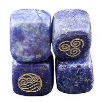 Four Elements Religion Rune Symbol Lapis Lazuli Stone Carved Gemstone Decors