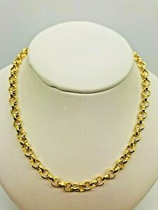 "9ct Yellow Gold Round Belcher Chain - 5.0mm - 24"" **** CHEAPEST ON EBAY ****"
