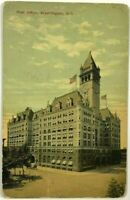 1900's 1910's Old Post Office Washington DC Street View Vintage Postcard