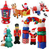 7 Styles Inflatable Christmas Yard Decoration Lighted Santa Archway Soldier Home
