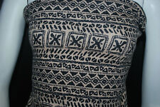 Cotton Jersey Lycra  Print  Knit Fabric Very Soft  9 oz Geometric Print