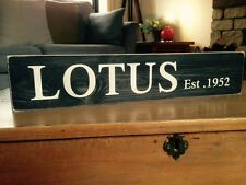 Lotus Sign Car Vintage Old Look Garage Gift Esprit Elite Elan Éclat