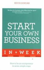 START YOUR OWN BUSINESS IN A WEEK - DUNCAN, KEVIN - NEW PAPERBACK BOOK