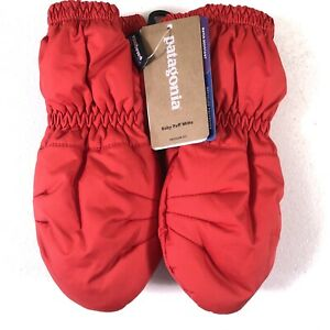 New Patagonia Baby Puff Mitts Insulated Fire Red 0-3 Months 60552 FA 19