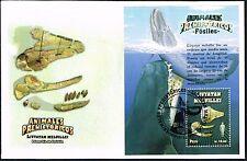 3035 PREHISTORIC WHALES PERU FDC COVER 2014 CETECEAN SOUVENIR SHEET