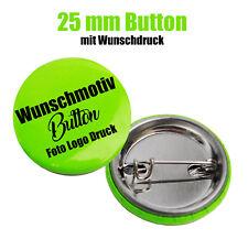 10x Button 25 mm mit Wunschmotiv - Buttons drucken - Logo - Foto - Text