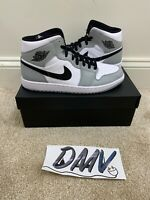 New Air Jordan 1 Mid 'Light Smoke Grey' (554724-092)