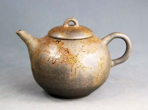 Tokoname Hand-made Mogake Teapot Kyusu by Jin, #jin069 : 117*D81*H80mm, 190ml