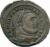 SEVERUS II as Caesar Authentic Ancient 305AD Original Roman Follis Coin i84392