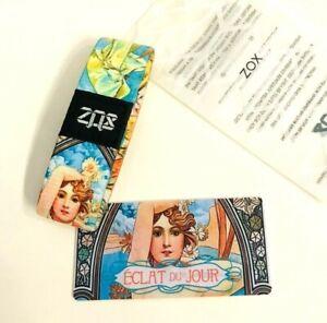 ZOX **ECLAT DU JOUR** Silver Strap medium NIP Wristband w/Card