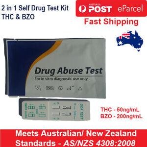 x5, x10, x15 - THC | BZO Drug Self Test Kit Strips Marijuana THC Benzodiazepine
