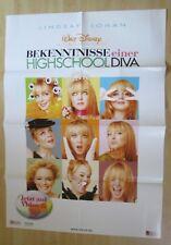 Filmplakat : Bekenntnise einer Highschool-Diva ( Lindsay Lohan , Disney )