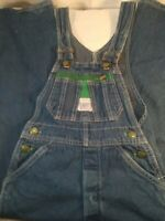 Liberty Youth Children 8 Regular Vintage Bib Denim Blue Jean Overalls USA