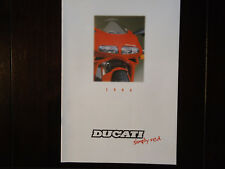 DUCATI prospetto programma 1994 prospetto brochure Fogarty 916 SP 748