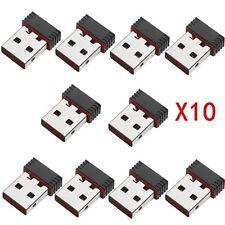10pcs 150M 150Mbps Mini USB WiFi Wireless Adapter Network LAN Card 802.11n/g/b L
