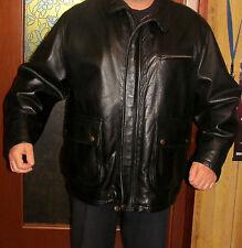 Giacca in vera pelle Conbipel, colore nero - taglia 50 (veste abbondante)