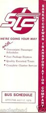 Bus Timetable - Saskatchewan Transportation Company - STC - 17/07/79 (Canada)