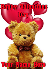 Teddy Bear tv278 Cute Fun valentines Day Card A5 Personalised Greeting